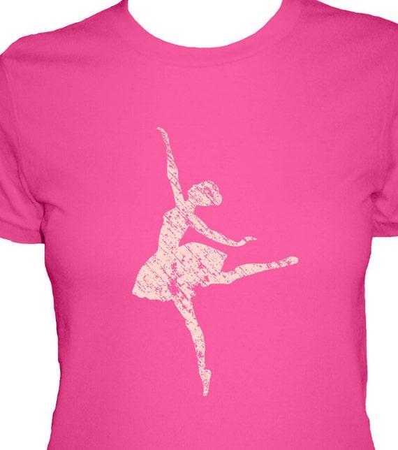 Dance Shirt - 4 Colors Available - Ballerina - Womens Cotton T Shirt - Gift Friendly