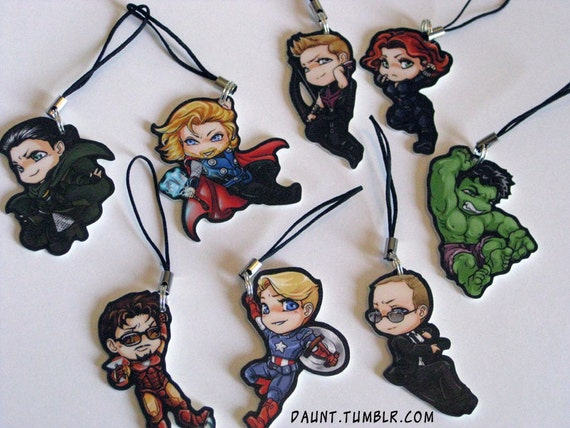 PREORDER - Avengers Charms - Set of 8