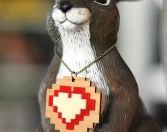Pixel Love Heart Necklace