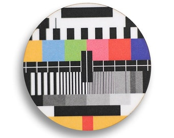 TV Screen Test Brooch