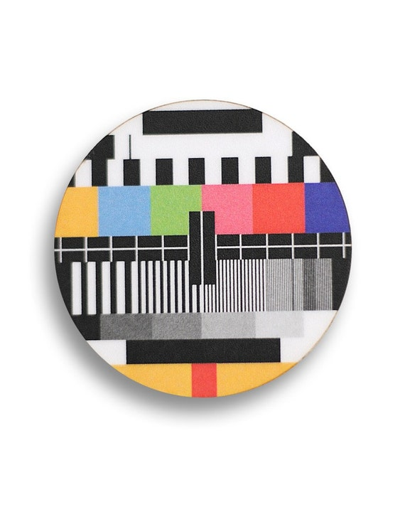 TV Screen Test Brooch