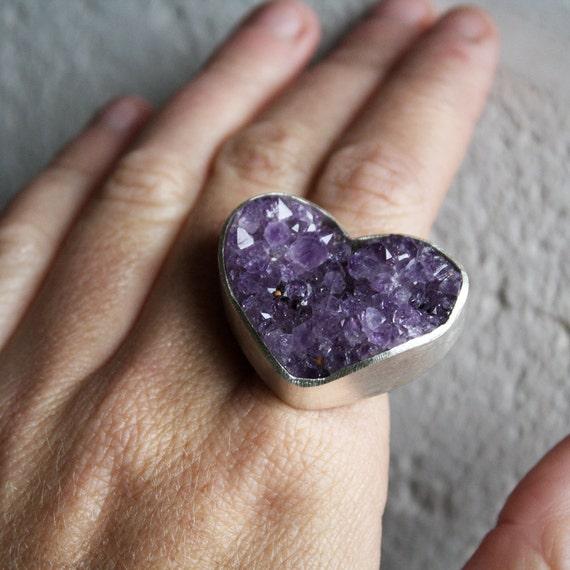 purple amethyst heart ring by lola cash. Black Bedroom Furniture Sets. Home Design Ideas