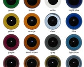 Plastic safety eyes 14mm, 5 pairs (10 pieces), different colours
