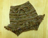 Sale--MEDIUM Earthy Wool Soaker with Mini-Skirty