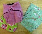 """MEDIUM """"Try Me"""" Cloth Diaper Gift Set-- Daddy Flats and Wool Cover"""