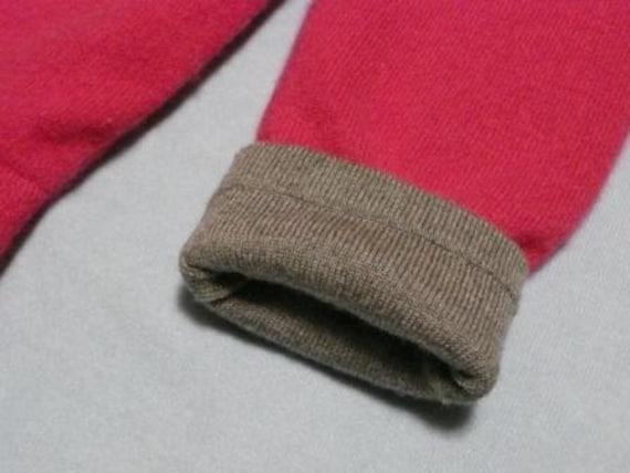 Last Season SALE--Hot Pink Reversible Cashmere Longies 12-18 MONTHS