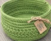 Green Wool Basket