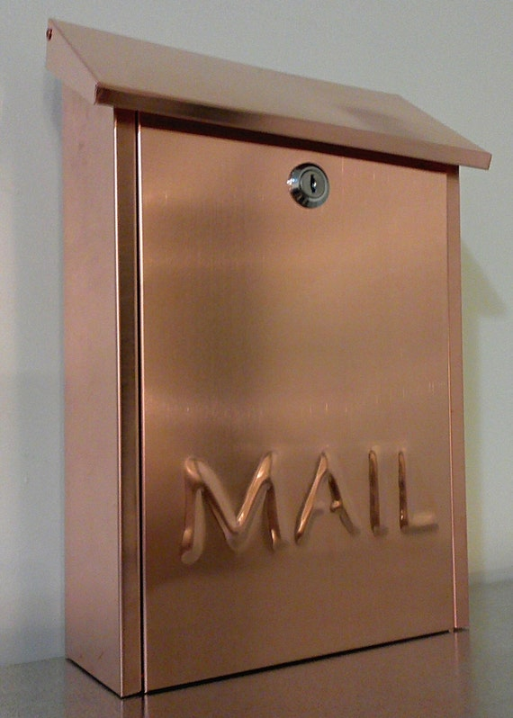 Wall mounted COPPER MAILBOX