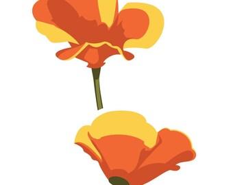 California Poppy Etsy