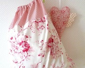 Laundry Bag. Lingerie Bag. Large. French Country. Toile. Red. Polka dots