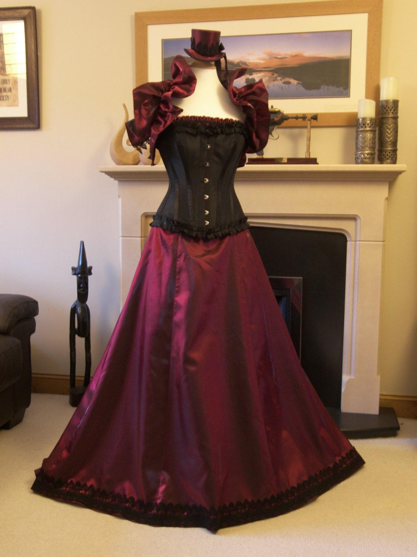 Victorian steampunk ball gown or wedding dress by for Steampunk corset wedding dress