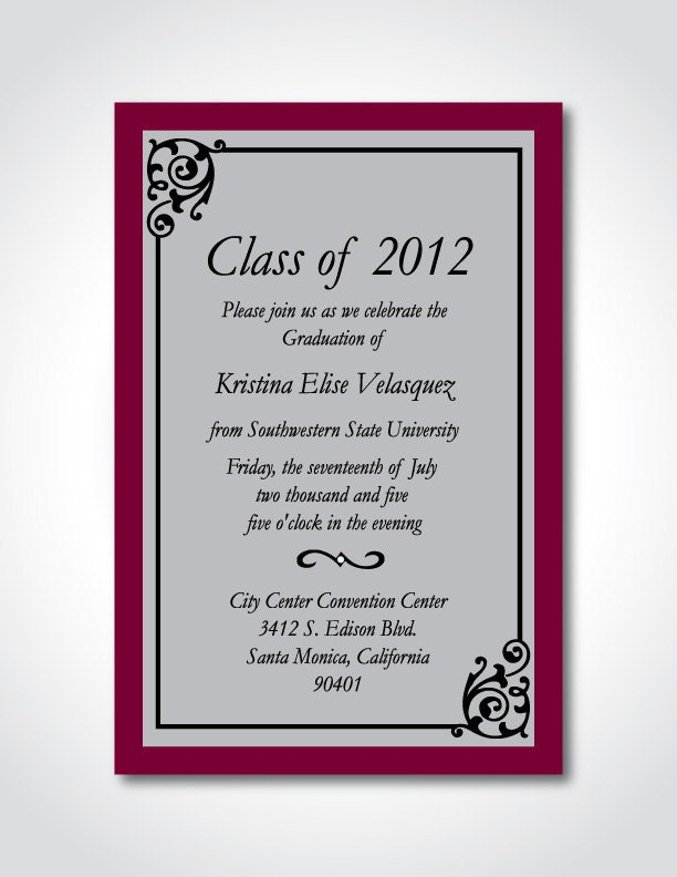 Make Your Own Graduation Invitations Free was luxury invitation sample