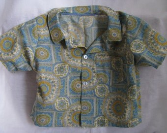 Paisley Button Up Shirt Boys Size 3T