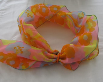 Retro Orange Summer Scarf