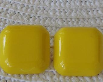 SALE Retro Yellow Earrings