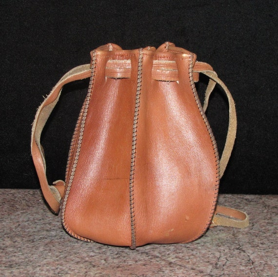 Vintage Hippie Leather Pouch/Purse