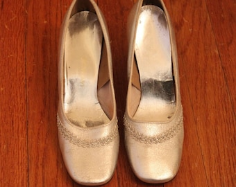 Vintage Silver Party Shoes