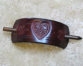 Hair Holder Ornament/Stick Barrette - H20004 Made-To-Order Celtic Heart Barrette