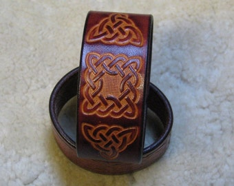 Tooled Celtic Cuff - C10983 - Made To Order - Free US Shipping