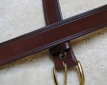 """Hand-Rubbed Leather Belt - B21000 HD - Made-To-Order, the """"Forever"""" belt"""