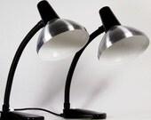 Pair of HALA Industrial Desk Lamps  '50s - 1001vintage