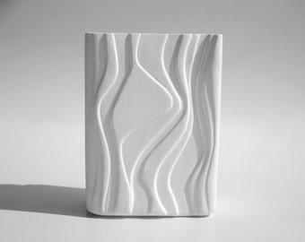 Vintage German White Op Art Vase - Heinrich 1970s