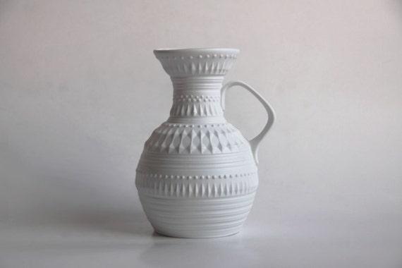 Reserved Vintage White Porcelain Pitcher  - Royal Porzellan KPM