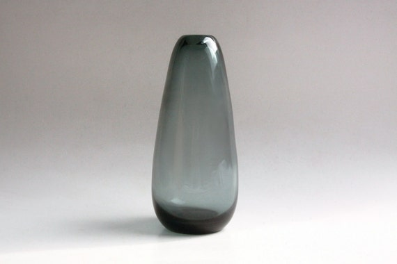 Mid Century Glass Grey Vase  - WMF 50s