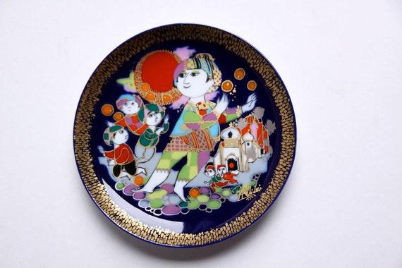Vintage Wall Plate (3) - Bjørn Wiinblad for Rosenthal
