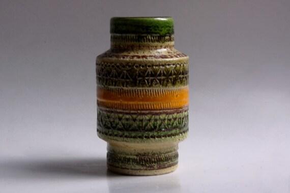 Mid Century Green Italian Vase - Bitossi - Rare