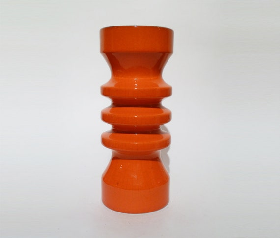 reserved Vintage Red Modernist Vase - Flora, Netherlands 1980s