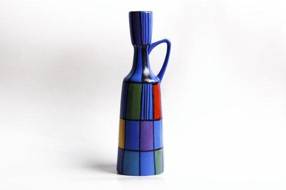 Vintage Tall Rare  Bodo Mans Vase 'Reims' - Bay 1960