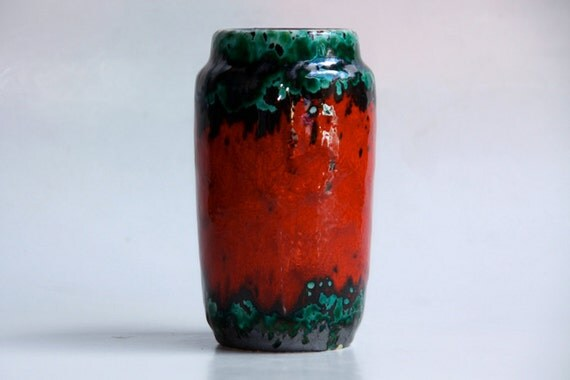 Vintage West German Lava Vase   - Scheurich 60s 70s