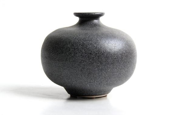 Steuler Grey Vase / Candle Holder- 1960s