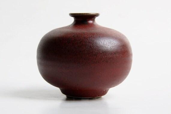 Steuler Red Vase / Candle Holder- 1960s