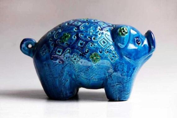 Vintage Pig Figurine - Bitossi 60s