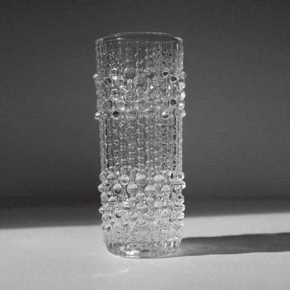 Set of 6 Bohemian Op Art Vases - Sklo Union