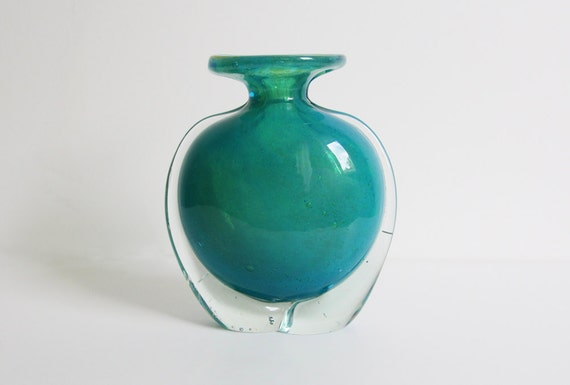 1970s Art Glass Vase -Mdina
