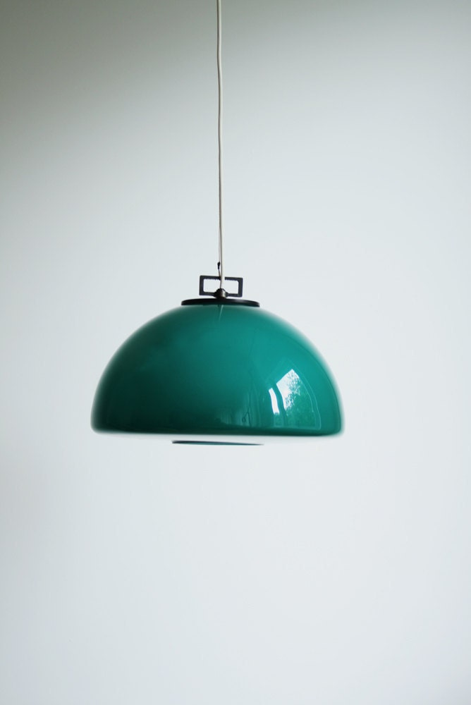Vintage Teal Pendant Light