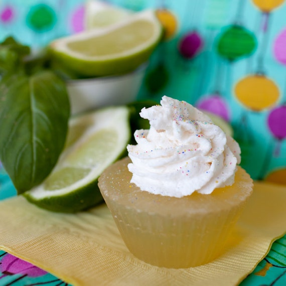 Citrus & Basil Cupcake Soap - Vegan - Paraben-free