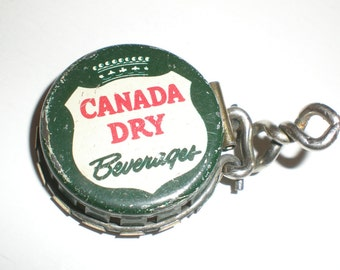 Kork-N-Seal Soda Cap Antique Canada Dry Ginger Ale-Classic Advertising Collectible