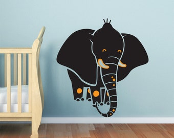 Baby Nursery decal -  Elephant wall decal, nursery decal sticker, baby room decor. NEW Safari theme