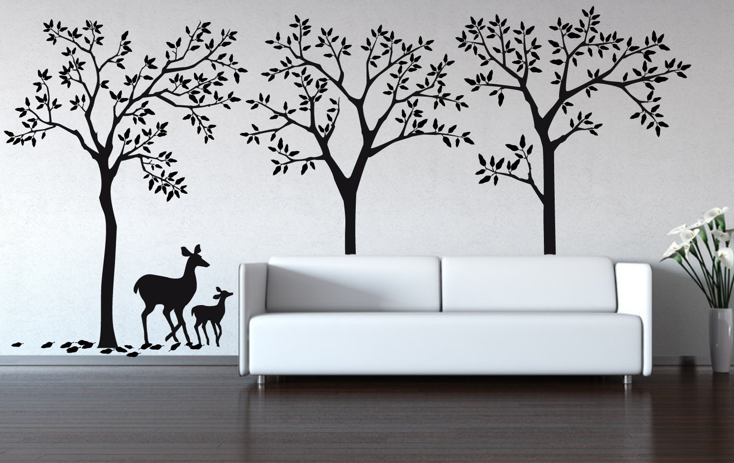 Wall Decal Urban Forest Decal Removable Matte Wall Stickers