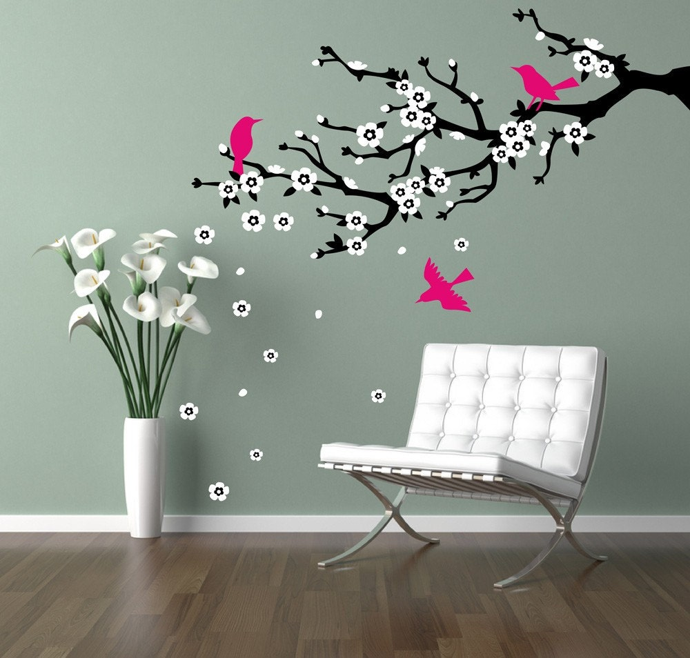 Wall decal cherry branch cherry blossom branch flowering zoom amipublicfo Image collections