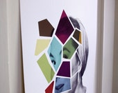Face No.1 Collage Poster Print 12.5x19