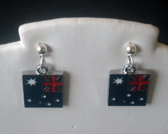 AUSTRALIAN FLAG  EARRINGS, Show your Olympic Spirit, London 2012