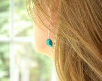 Turquoise Earrings, Southwestern Earring, Modern Earrings, Tourquoise Earring