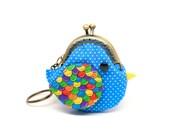 Pico ocean blue bird key chain coin pouch