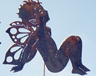 Daydreamer Fairy Yard Art Stake by Rustiques Garden Art