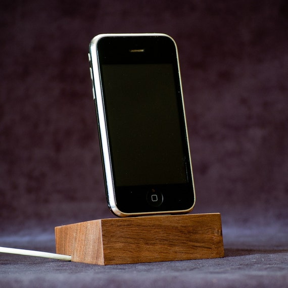 Wood iPhone 4 Dock, Stand, Charging Station  - Walnut - ON SALE